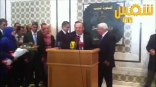 هدية سمير ديلو لوزير العدل الجديد حافظ بن صالح
