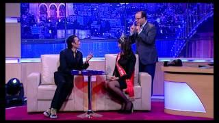 لباس الحلقة 22, لعبة المكياج (بسام الحمراوي و وهيبة عراس  Miss Tunisie 2014)