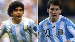 Lionel Messi vs Diego Maradona● Similar Goals Compilation ●