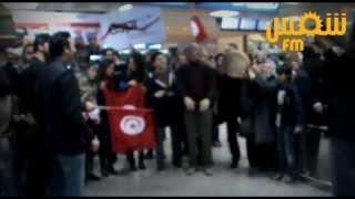مطار تونس قرطاج: حفل استقبال للوفد التونسي المُتوج في المؤتمر العالمي للموبايل  في برشلونة