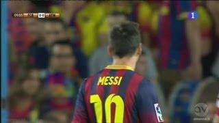 Lionel Messi vs Atlético Madrid (28/8/2013) |Supercup (Home)|