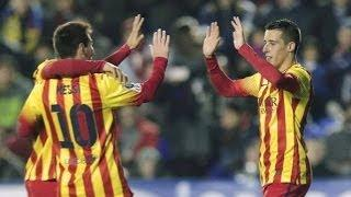 Lionel Messi Hat-Trick of Assists vs Levante (22/1/2014) HD 720p
