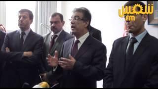 Les larmes de Tarek Dhieb lors de la remise des fonctionsà Saber Bouatay