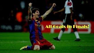 Lionel Messi - All Goals in Finals | HD