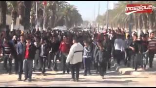 مسيرة تلمذية بمدينة جندوبة تنديدا بالإرهاب