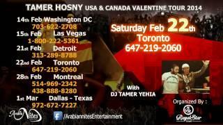 Tamer Hosny USA and Canada Valentine Tour 2014